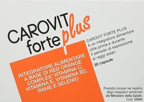 Carovit Forte Plus – Complemento alimenticio a base de Red Orange Complex, 30 unidades