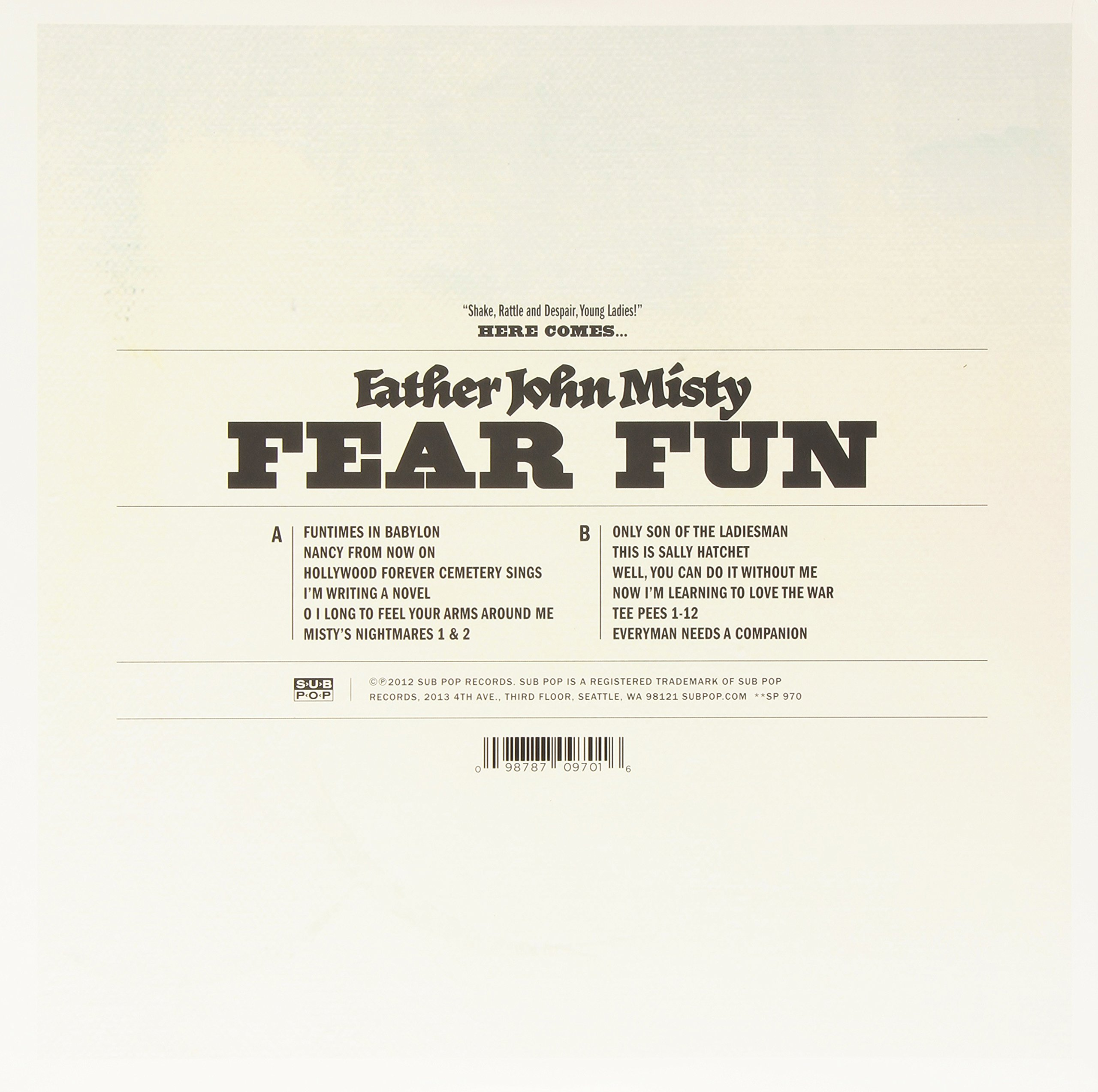 Fear Fun by Sub Pop