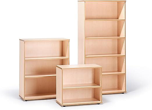 Estanterías de oficina de arce, metal, beige, H720 x D800 x ...