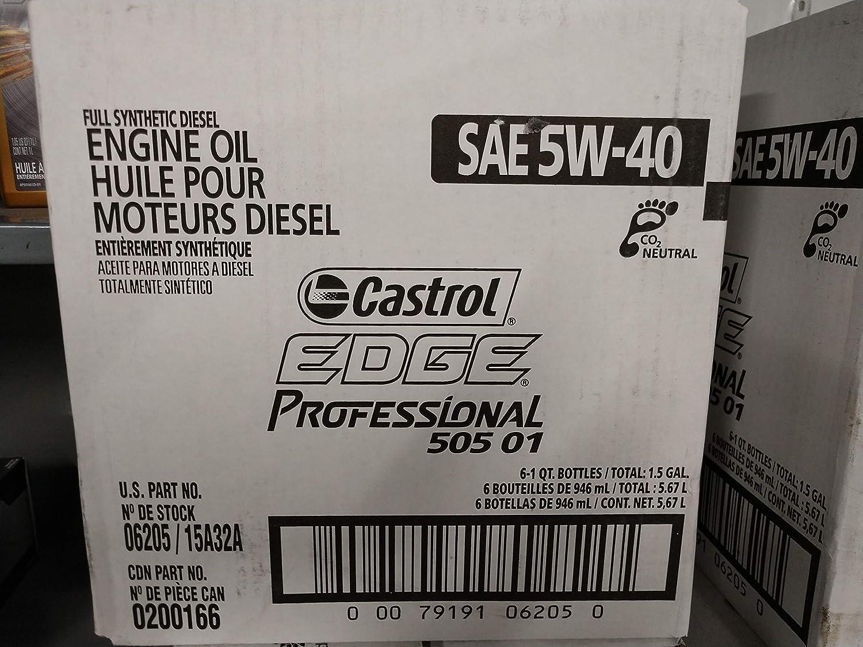 Amazon.com: Castrol Edge Professional OE 5W-40 Motor Oil Case of 6: Automotive