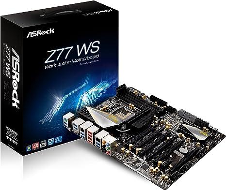 Asrock Z77 WS - Placa Base (zócalo LGA 1155, ATX, Intel Z77, 4 módulos de Memoria DDR3, 6 Puertos SATA III, HDMI, 2 Conectores RJ-45, 12 Puertos USB 3.0): Amazon.es: Informática