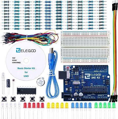 ELEGOO Conjunto Básico de Iniciación Compatible con Arduino IDE ...