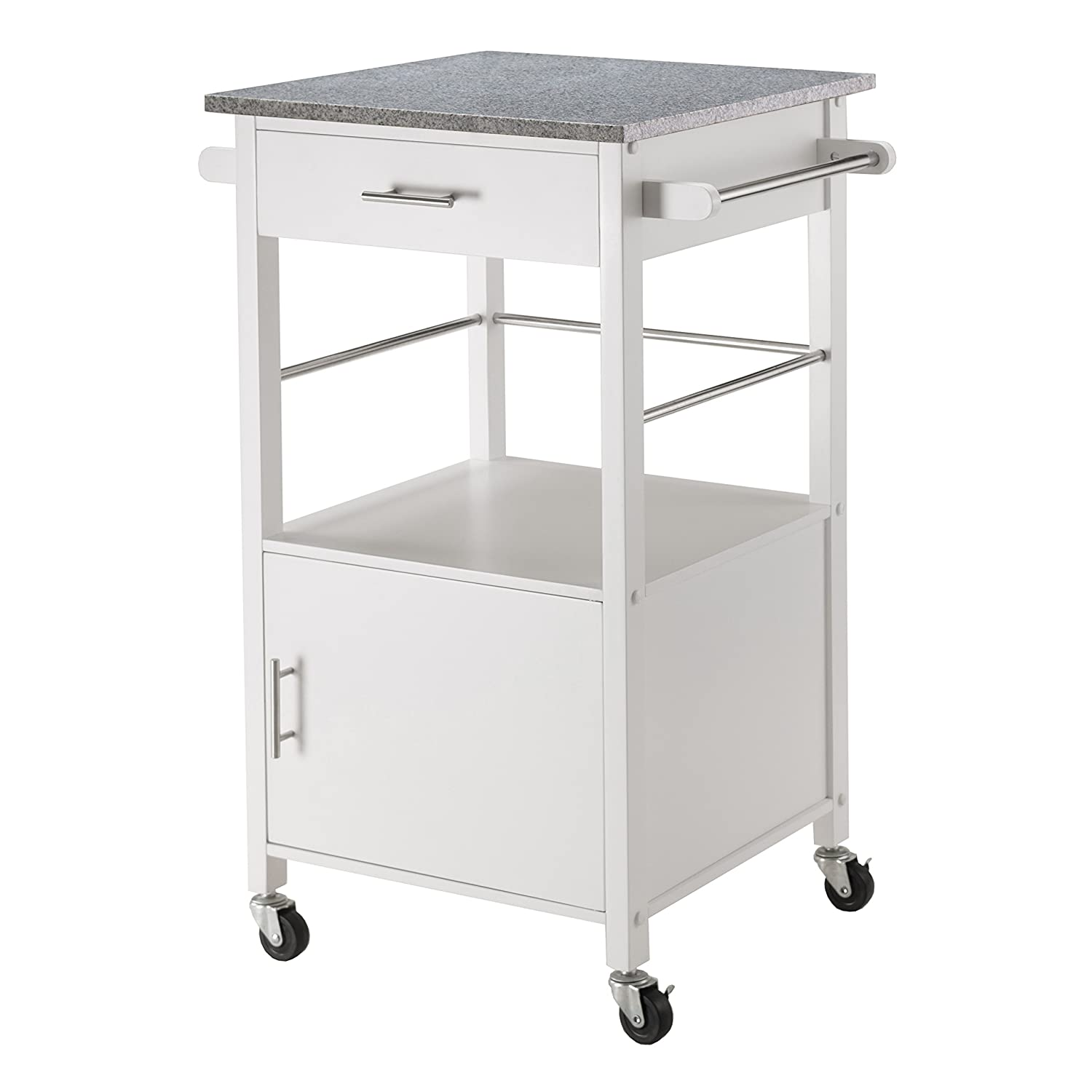 Amazon Winsome Davenport Kitchen Cart with Granite Top