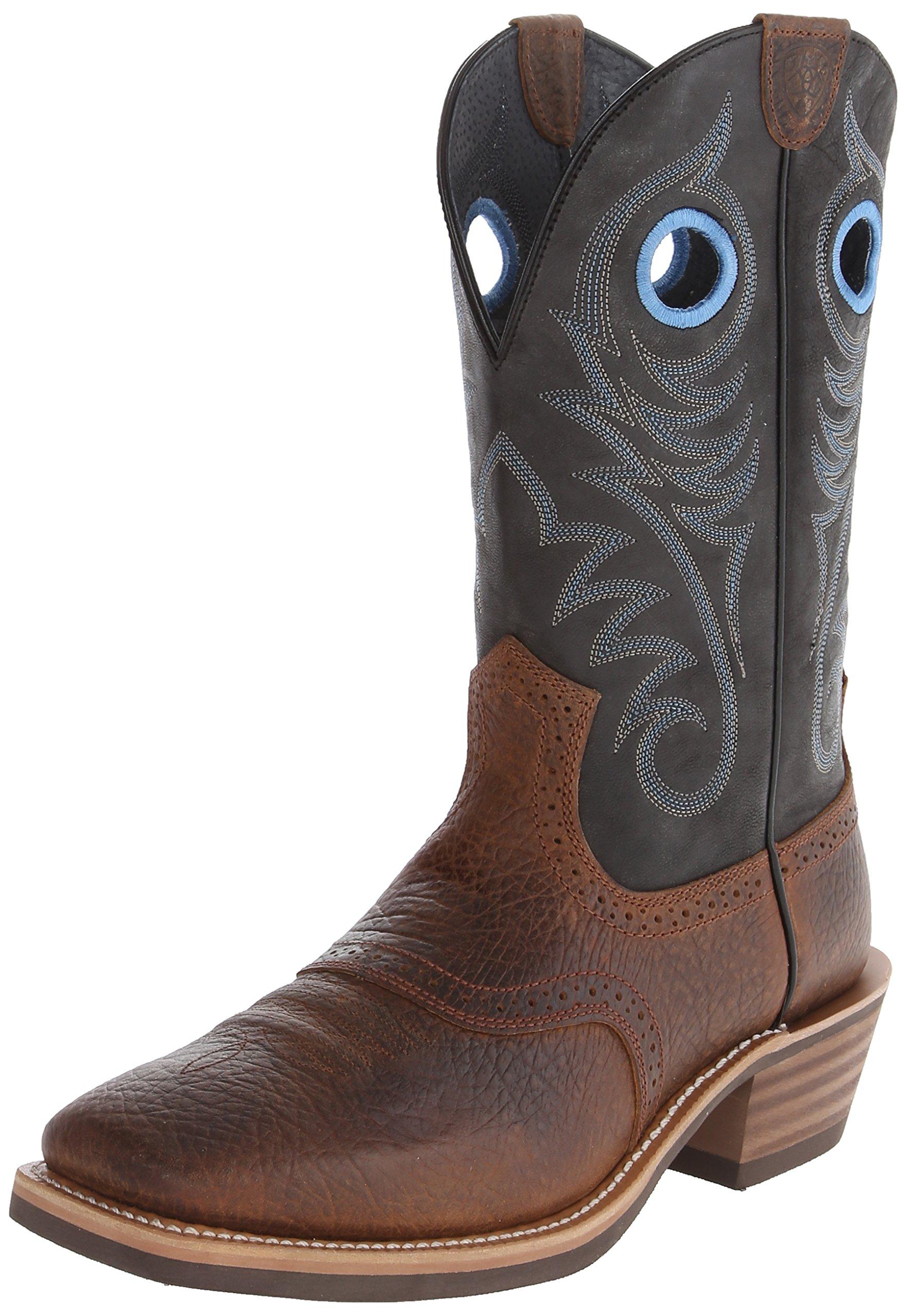 Ariat Men's Heritage Roughstock Western Cowboy Boot, Earth/Vintage Black, 9.5 EE