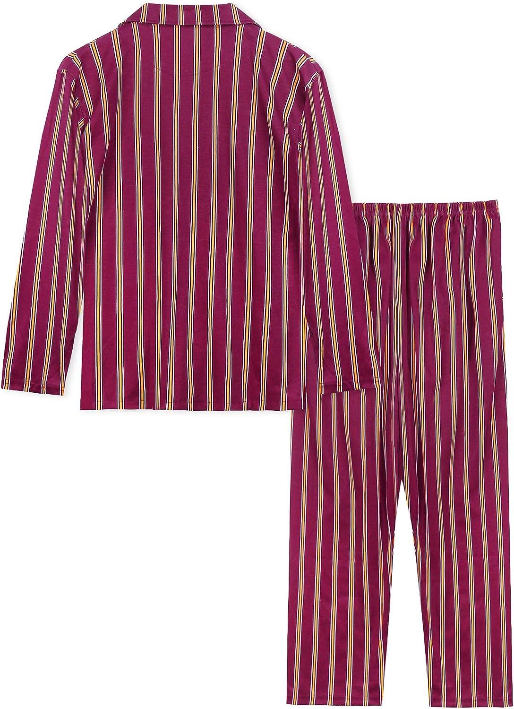 ARBLOVE Pijama Hombre Invierno Algodon 2 Piezas,Suave C/ómodo Suelto y Agradable