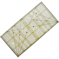 Quilting Ruler 30x15 cm Patchwork Ruler Transparent Acrylic for Dressmakers, Sewing and Crafts in cm, Mm and Angles…