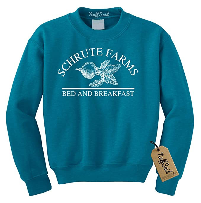 07145b155 Nuff Said Schrute Farms Beets Bed and Breakfast Sweatshirt Sweater Pullover  - Unisex (Small,