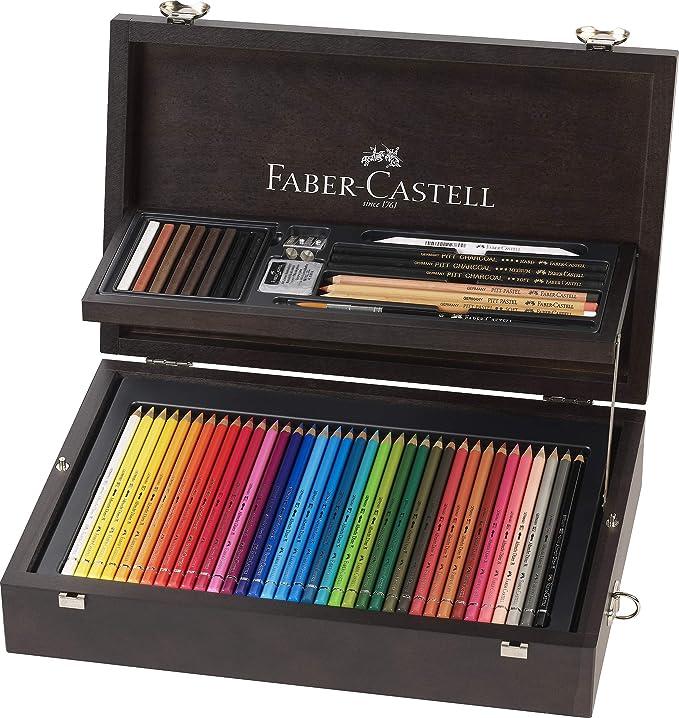 Faber-Castell 110086 - Estuche de madera de 108 piezas con equipo ...