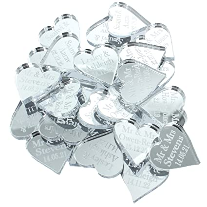 Personalised Wedding Favours Mr Mrs Venue Decor Table Decorations