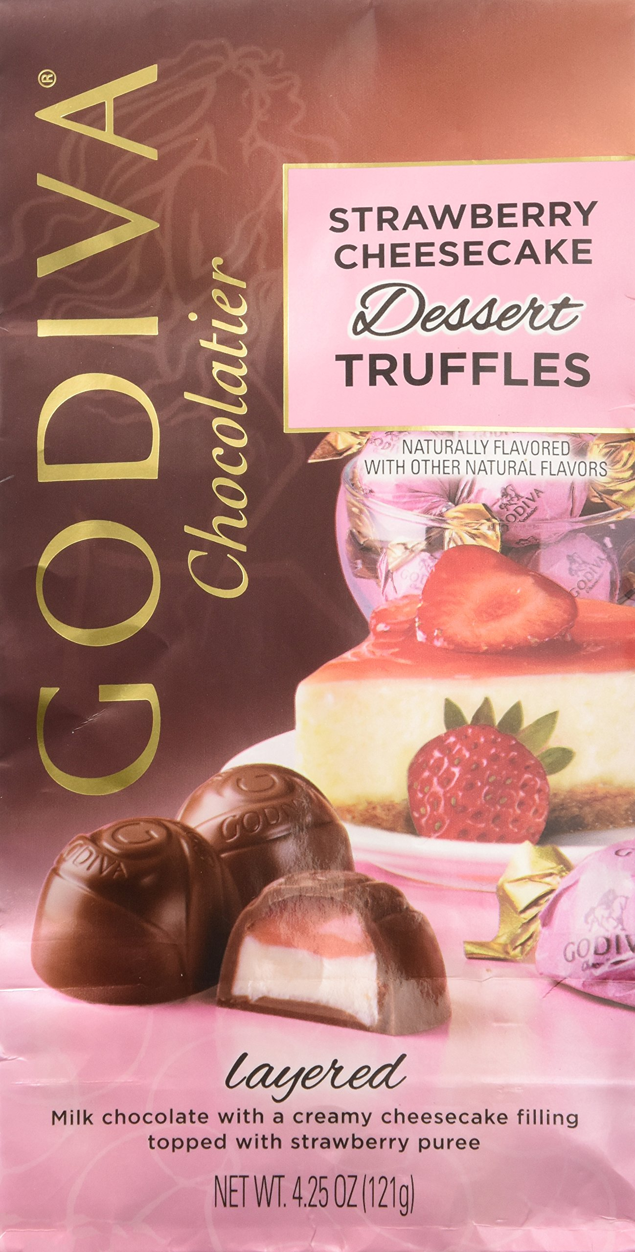 Godiva Chocolatier Strawberry Cheesecake Dessert Truffles Net Wt. 4.25 oz by GODIVA Chocolatier