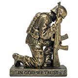 Dicksons Duty Faith God Praying Soldier 5 inch Gray