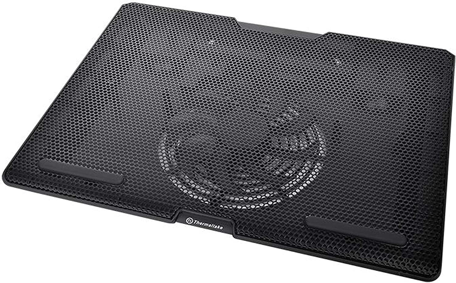 Thermaltake Massive S14 Mesh Steel Panel 140mm Silent Fan Adjustable Height Setting Supporting Up to 15 Inch Notebook Coooler CL-N015-PL14BL-A, Black