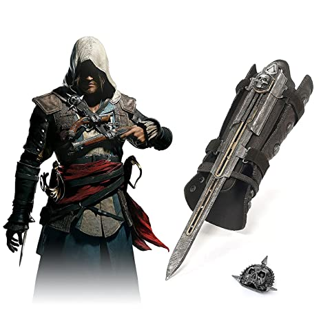 1:1 Pirate Hidden Blade Toys Edward Kenway Cosplay Action Figure Model Kids Toys For Birthday Gifts Movie Props Hidden Weapon Back To Search Resultstoys & Hobbies