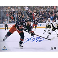 "$39 » Nick Foligno Columbus Blue Jackets Autographed 8"" x 10"" Blue Jersey Shooting Photograph…"