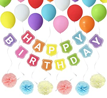 birthday party decorations husdow happy birthdays banner garland 6