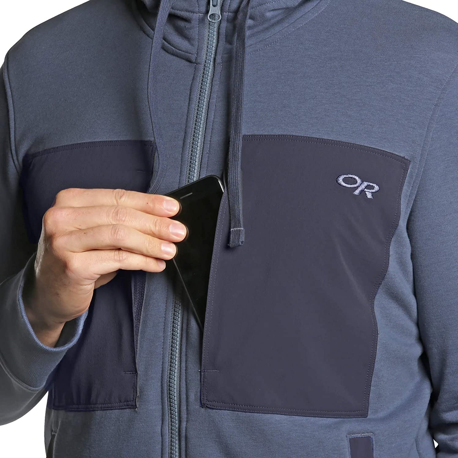 Outdoor Research Herren Men's Cam Full Zip Hoody Herren Cam Full Zip Hoody Stahlblau