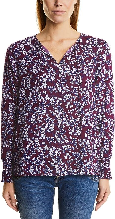 Street One Flower-Print Blouse Smok-Cuff Blusa para Mujer