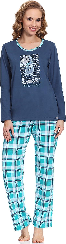 Cornette Pijama Conjunto Camiseta y Pantalones Ropa de Casa Mujer Warm