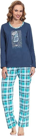 TALLA S. Cornette Pijama Conjunto Camiseta y Pantalones Ropa de Casa Mujer Warm
