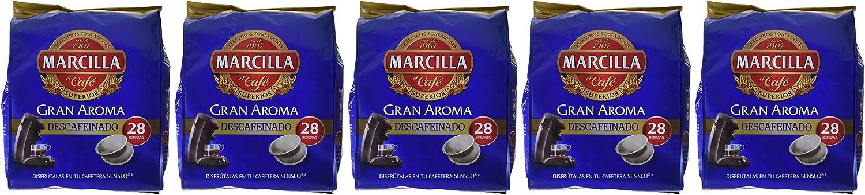 Marcilla monodosis GRAN AROMA DESCAFEINADO - [Pack de 5]: Amazon ...