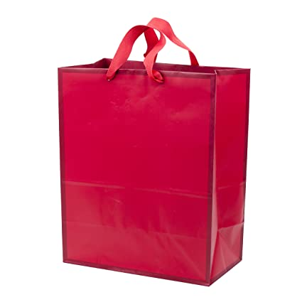 Amazon Hallmark Large Red Gift Bag Holiday Birthday Baby Shower Valentines Day All Occasion Kitchen Dining