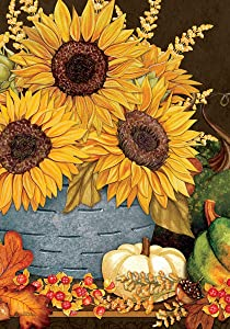 Custom Decor Sunflowers & Gourds - Standard Size, 28 x 40 Inch, Decorative Double Sided, Licensed and Copyrighted Flag, Printed in The USA