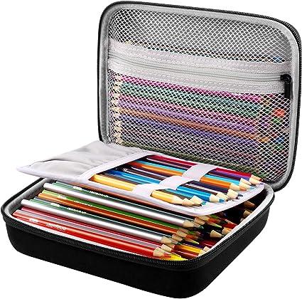 Estuche para 200 lápices de colores o 130 bolígrafos de gel, ceras, cinta, notas adhesivas y gomas, ideal para niños y adultos: Amazon.es: Oficina y papelería