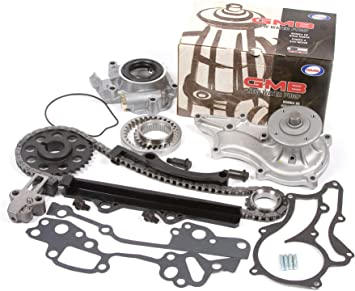 85-95 Toyota 2.4 SOHC 8V 22R 22RE 22REC High Performance Heavy Duty Timing Chain Kit w// Timing Cover Oil Pump GMB Water Pump