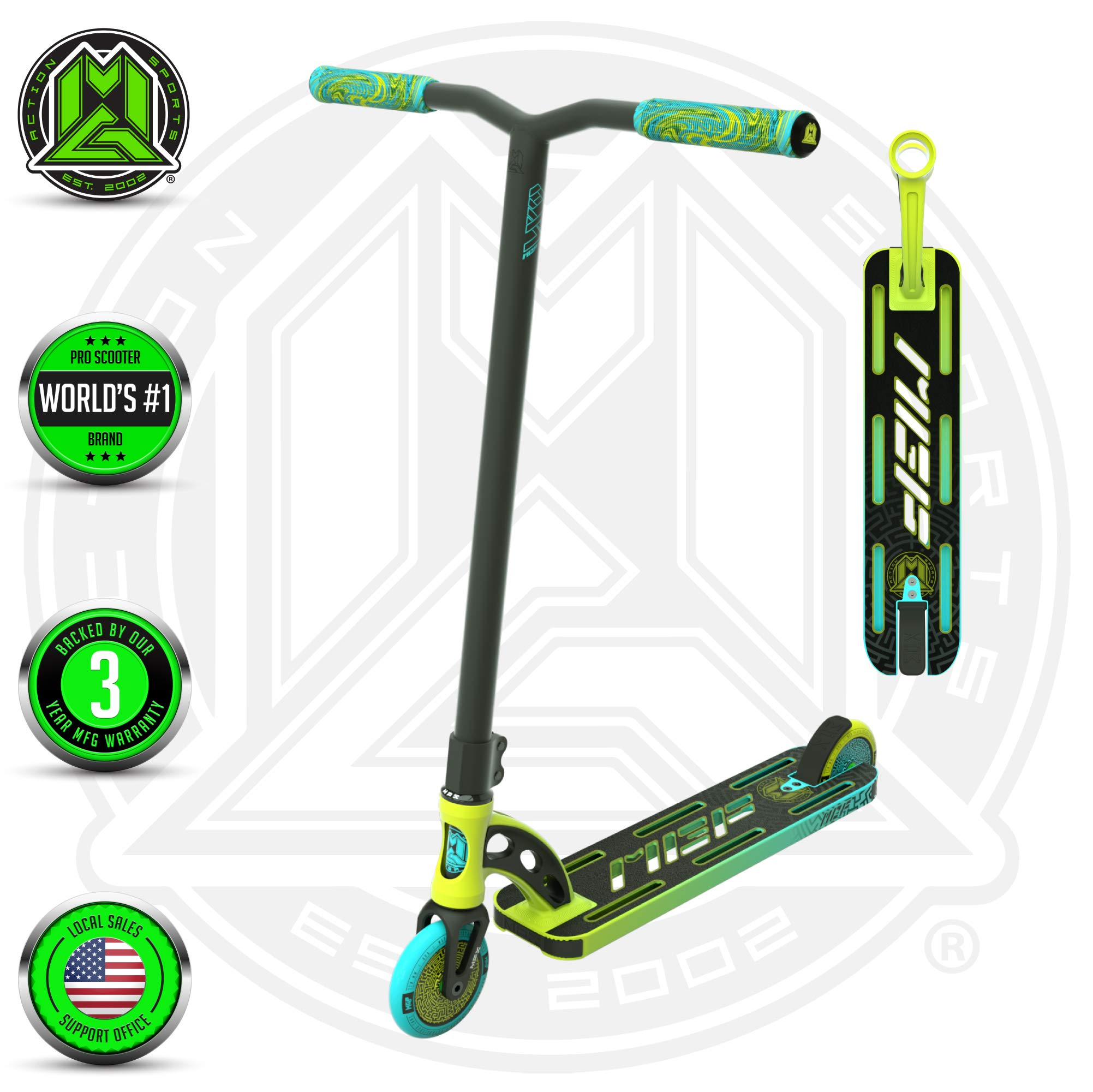 MGP Action Sports Madd Gear VX9 Pro (Lime/Aqua)