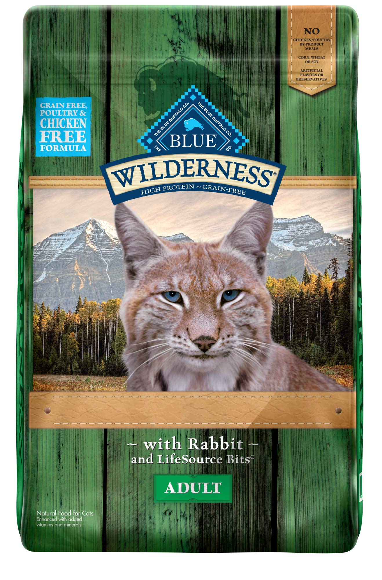 Blue Buffalo Wilderness Rocky Mountain Recipe High Protein Grain Free, Natural Adult Dry Cat Food, Rabbit 10-lb by Blue Buffalo