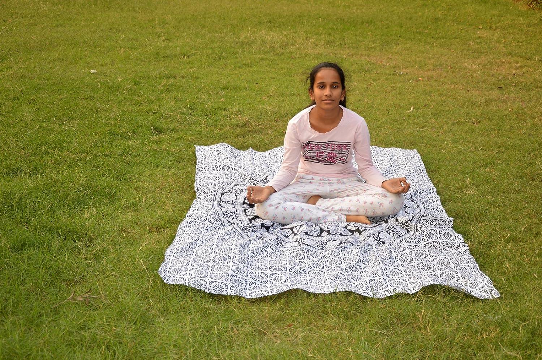 Marusthali Hoja de Yoga de Mandala de Hoja de Picnic ...