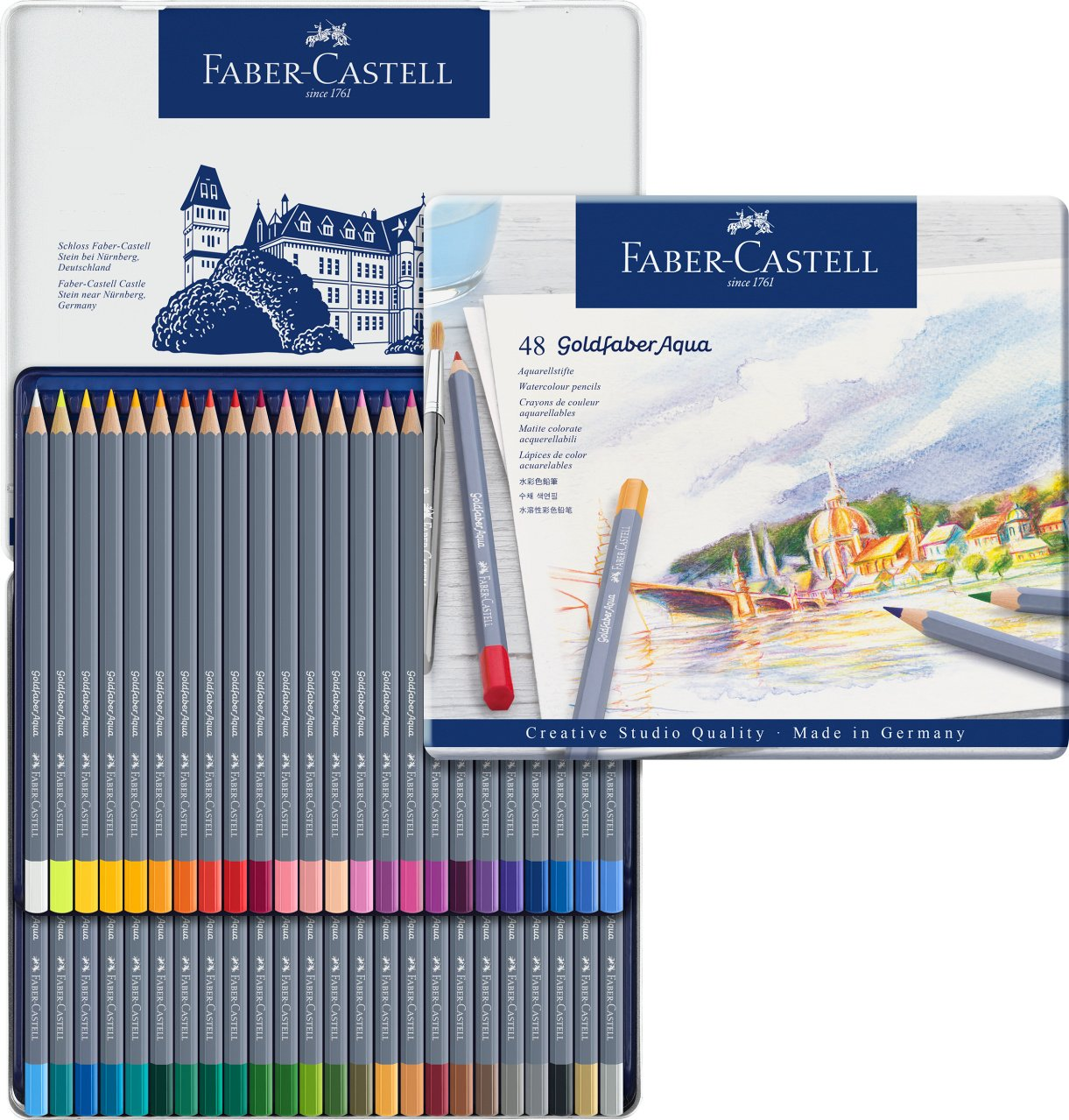 Faber-Castell Creative Studio Goldfaber Watercolor Pencils (48Count) by Faber-Castell