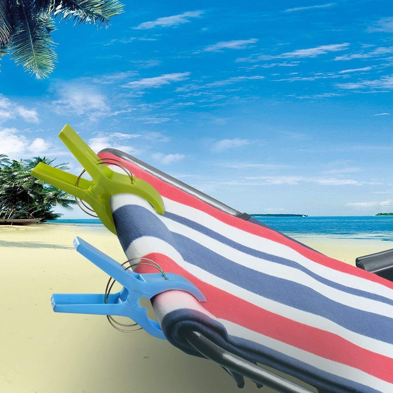 12 Stück große Wäscheklammern Handtuchklemmen Strandtuchklammern Handtücher Towel Clips, URAQT Winddicht Klammern auf Strand und Sonnenliegen für Wäsche, Strandtuch, Badetuch, Teppich etc. URBDJ2009