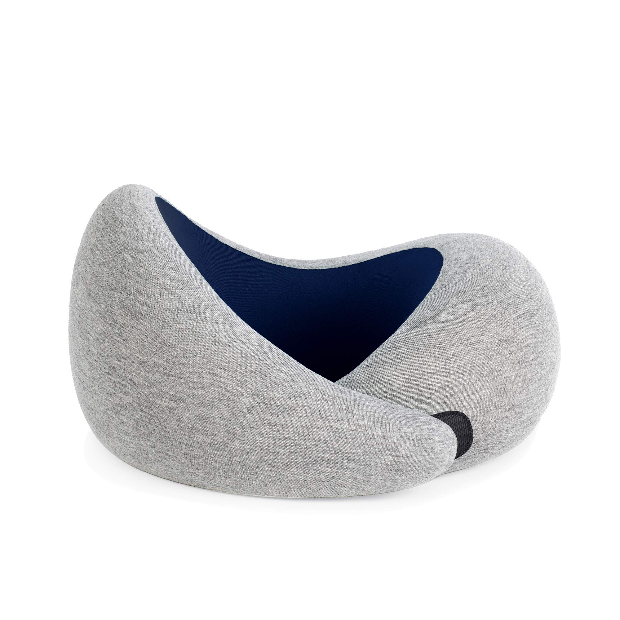 OSTRICHPILLOW GO Travel Pillow for Airplane Neck Support - Memory Foam Travel Accessories, Luxury Power Nap Pillow for Flight - Deep Blue by OSTRICH PILLOW