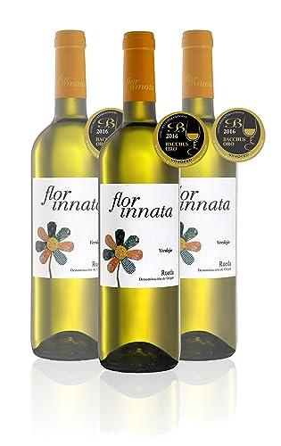 Flor Innata Caja de 3, Vino Blanco Verdejo Rueda Valdecuevas, x3, 750 ml