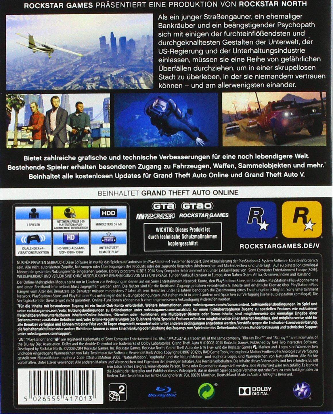 Grand Theft Auto V - [PlayStation 4]: Amazon.de: Games
