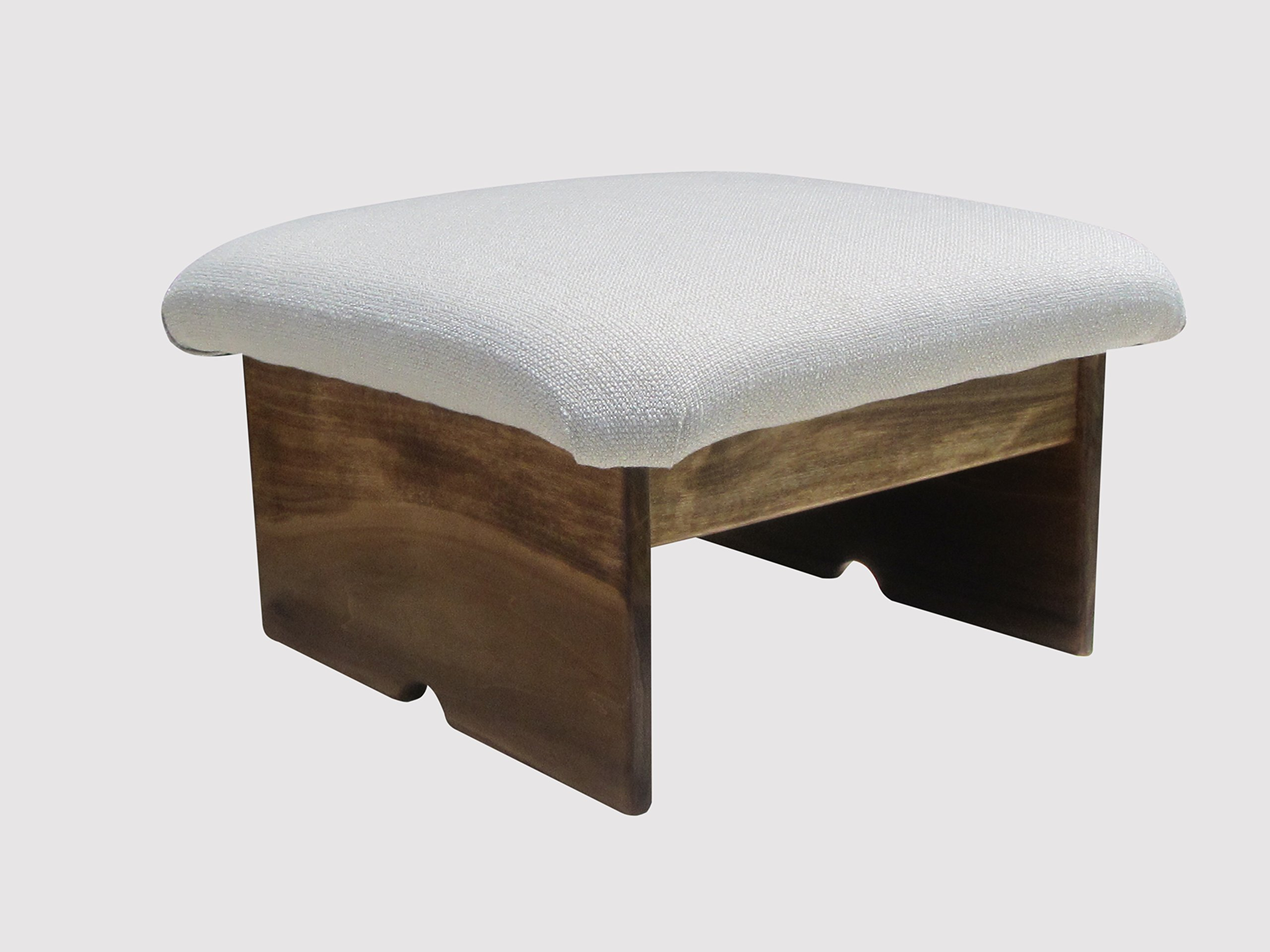 Padded Foot Stool Doggie Step, Walnut Stain, Silverado 10'' Tall (Made in the USA)