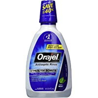 Orajel Antiseptic Mouth Sore Rinse, 16 Fluid Ounce