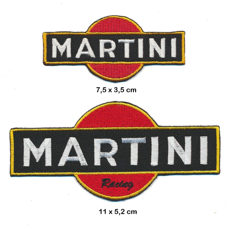 2 Unidades MTR Martini dise/ño de Equipo de Carreras Parches para Coser