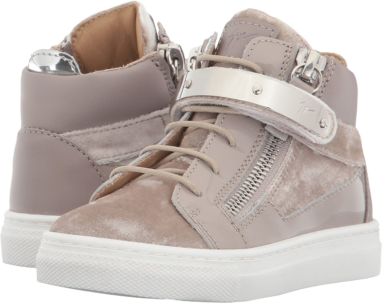 9e157b16a091 Amazon.com  Giuseppe Zanotti Kids Baby Girl s Veronica Sneaker (Toddler)  Pearl 21 M EU  Shoes