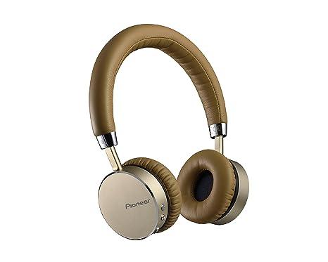 90f24720a0a6ee Pioneer SE-MJ561BT-T Cuffia Bluetooth con Tecnologia NFC e Microfono  Integrato, Champagne