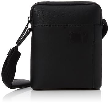 Calvin Klein Hi-profile Mini Reporter, Sacs portés épaule homme, (Black), 5x21x17 cm (B x H T)