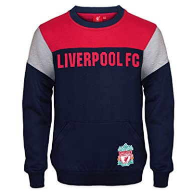 009a03143 Liverpool FC Official Soccer Gift Boys Crest Sweatshirt Top Navy 8-9 Years