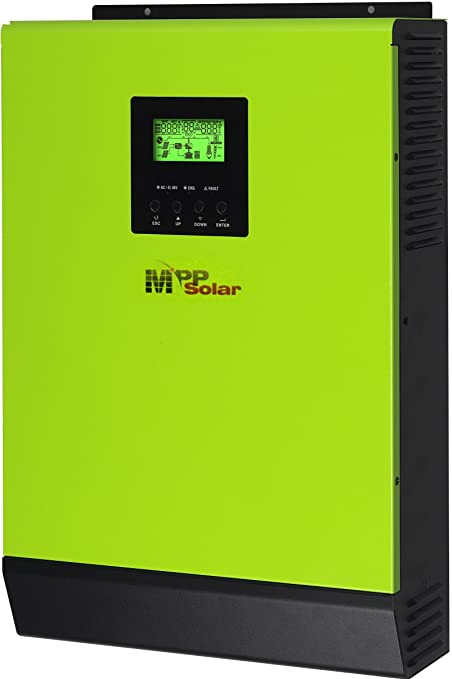 Amazon.com: Híbrida 2400 W 24 V 110 V Inversor Solar 80 A ...