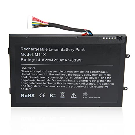 ARyee M11X R3 M14X R2 Battery for Dell Alienware New Laptop Replacement Fit Alienware M11x R2