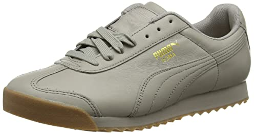 Puma Roma Classic Gum Zapatillas Unisex Adulto, Gris (Rock Ridge-Puma Team Gold), 41 EU