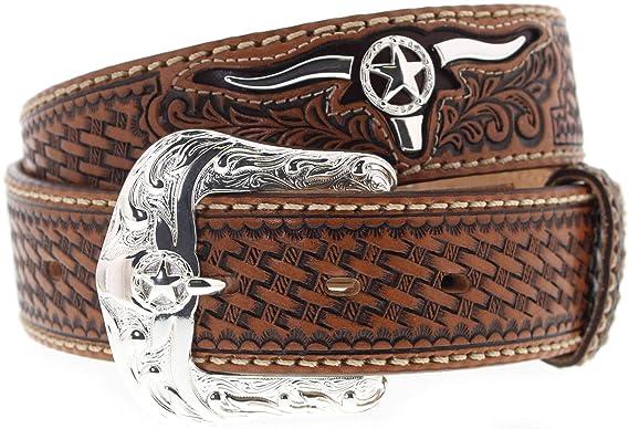 b2d66bf1d1de24 Justin Belts Herren Damen Gürtel C11284 TROPHY BULL Westerngürtel Braun 105  Zentimeter. Für größere Ansicht Maus über das Bild ziehen. FB Fashion Boots
