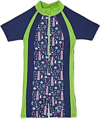 Veilkini Anchor Navy Sun Suits Swim Wear for Boys and Girls, Navy Blue
