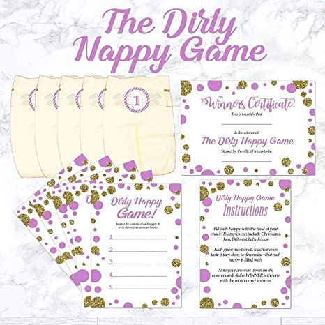 20 Baby Shower Party Game Winner Certificates in Blue Pink or Green Pack of 10