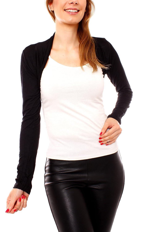 Vari Design a maniche lunghe da donna in cotone con fascetta GIACCHINA Boleros Bolero taglia unica Easy Young Fashion